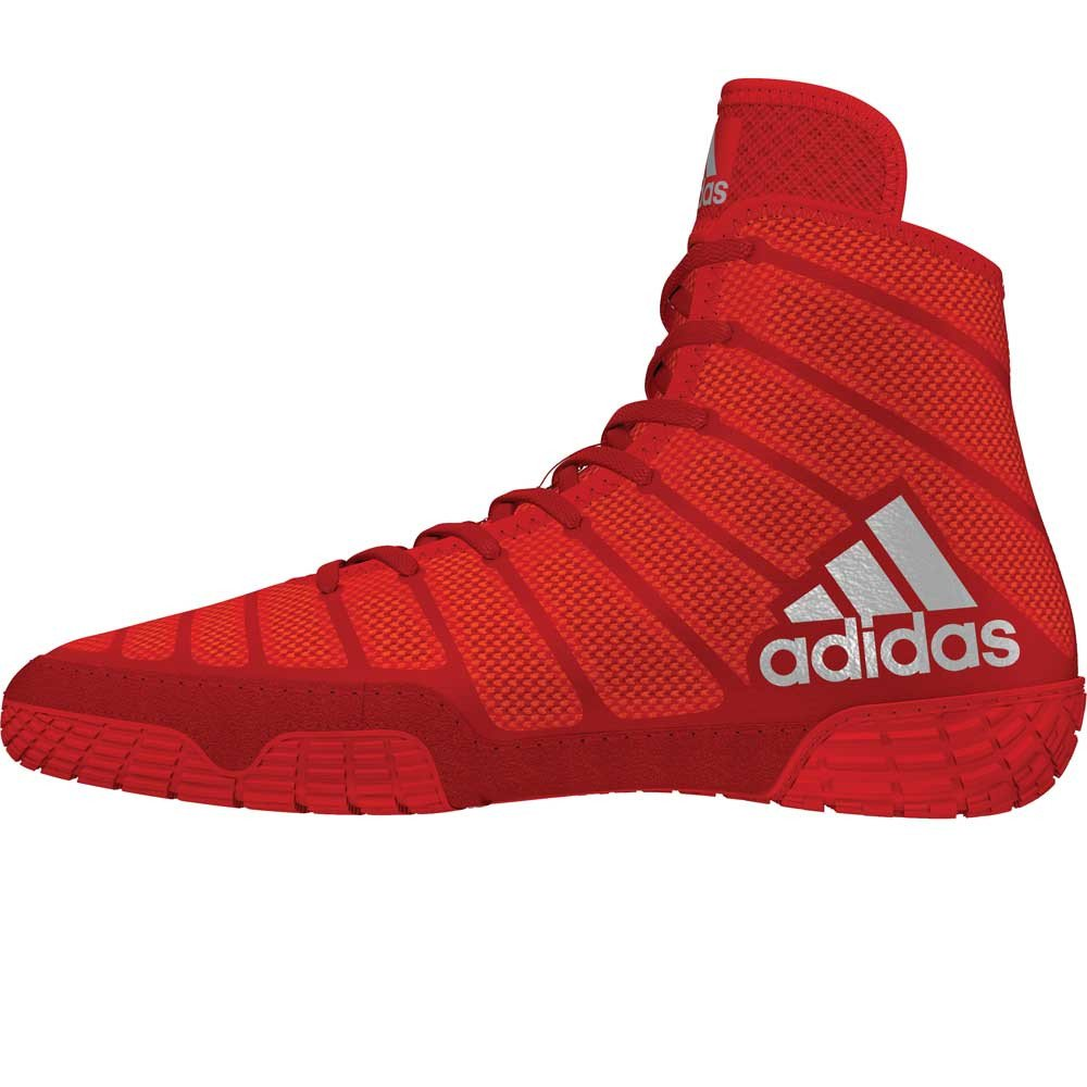 Red And Gold Wrestling Shoes