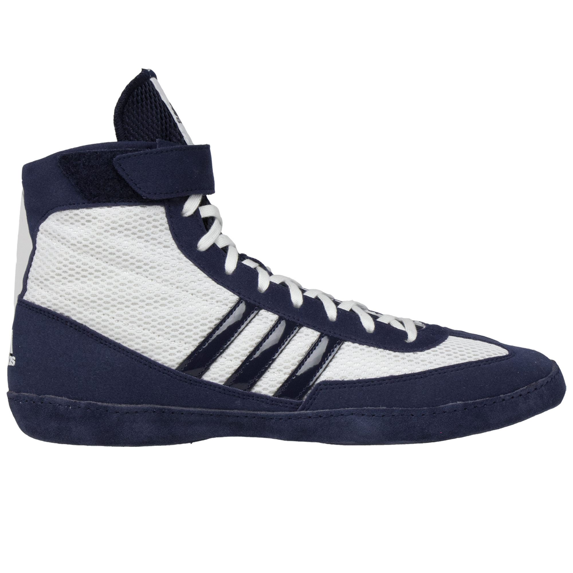 hot sales 89e81 f3f75 Adidas Combat Speed 4 Wrestling Shoe - White Navy