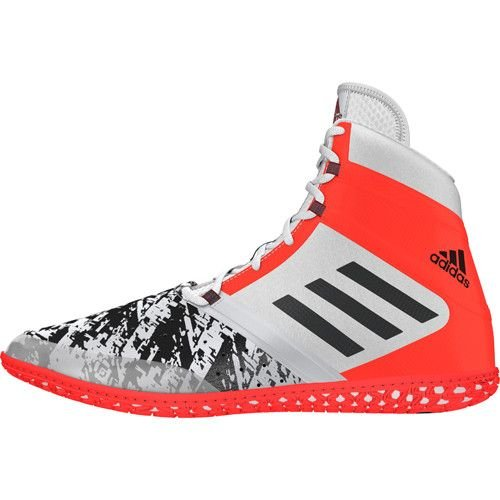 Adidas impatto wrestling scarpa bianca / nero / rosso solare