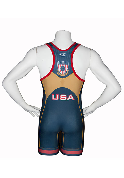 Cliff Keen Sublimated Stock Usa Navy Wrestling Singlet