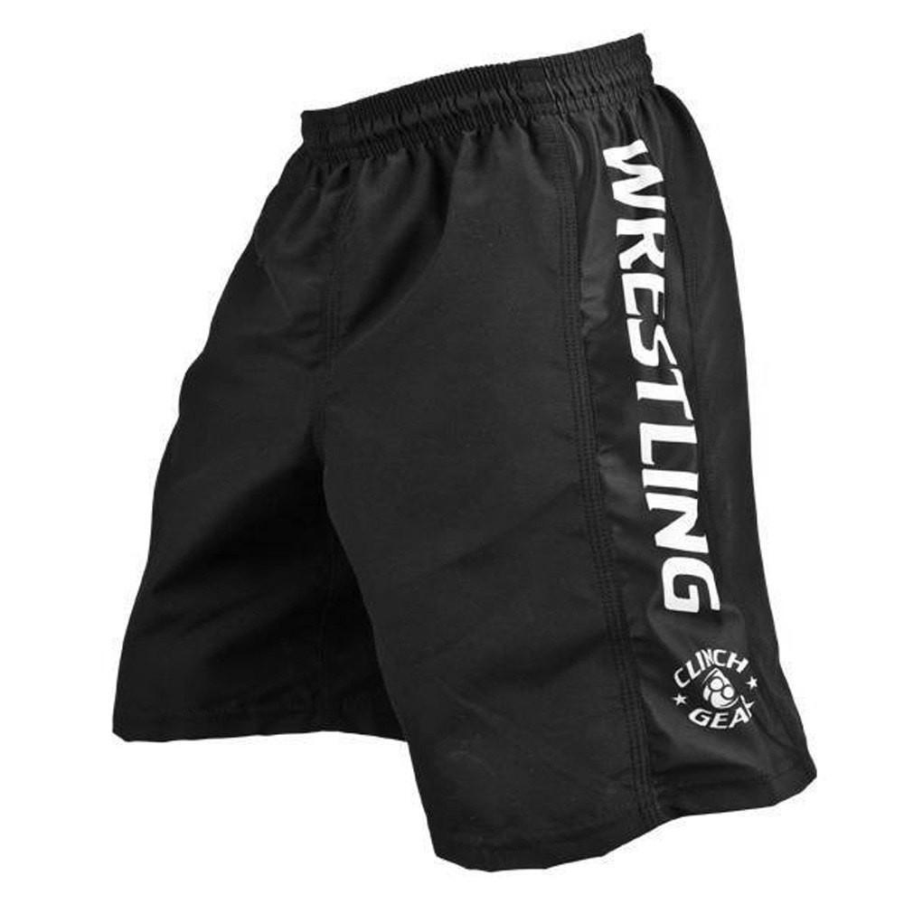 Clinch Gear Youth Wrestling Shorts Black