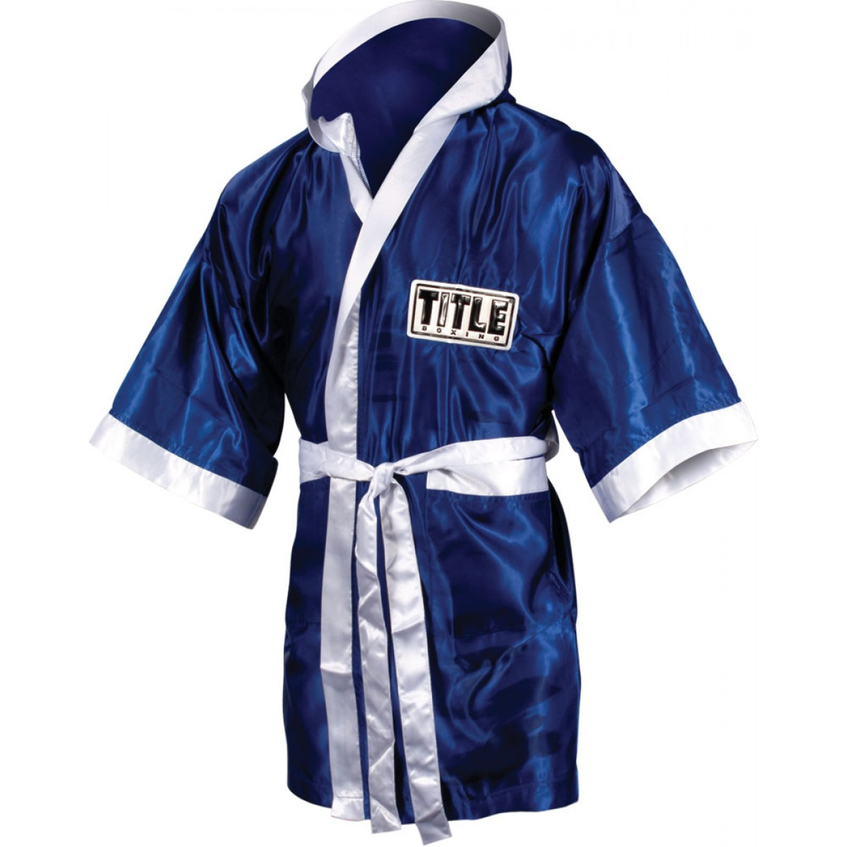 Personalised Boxing Robes: Title Full Length Satin Boxing Robe
