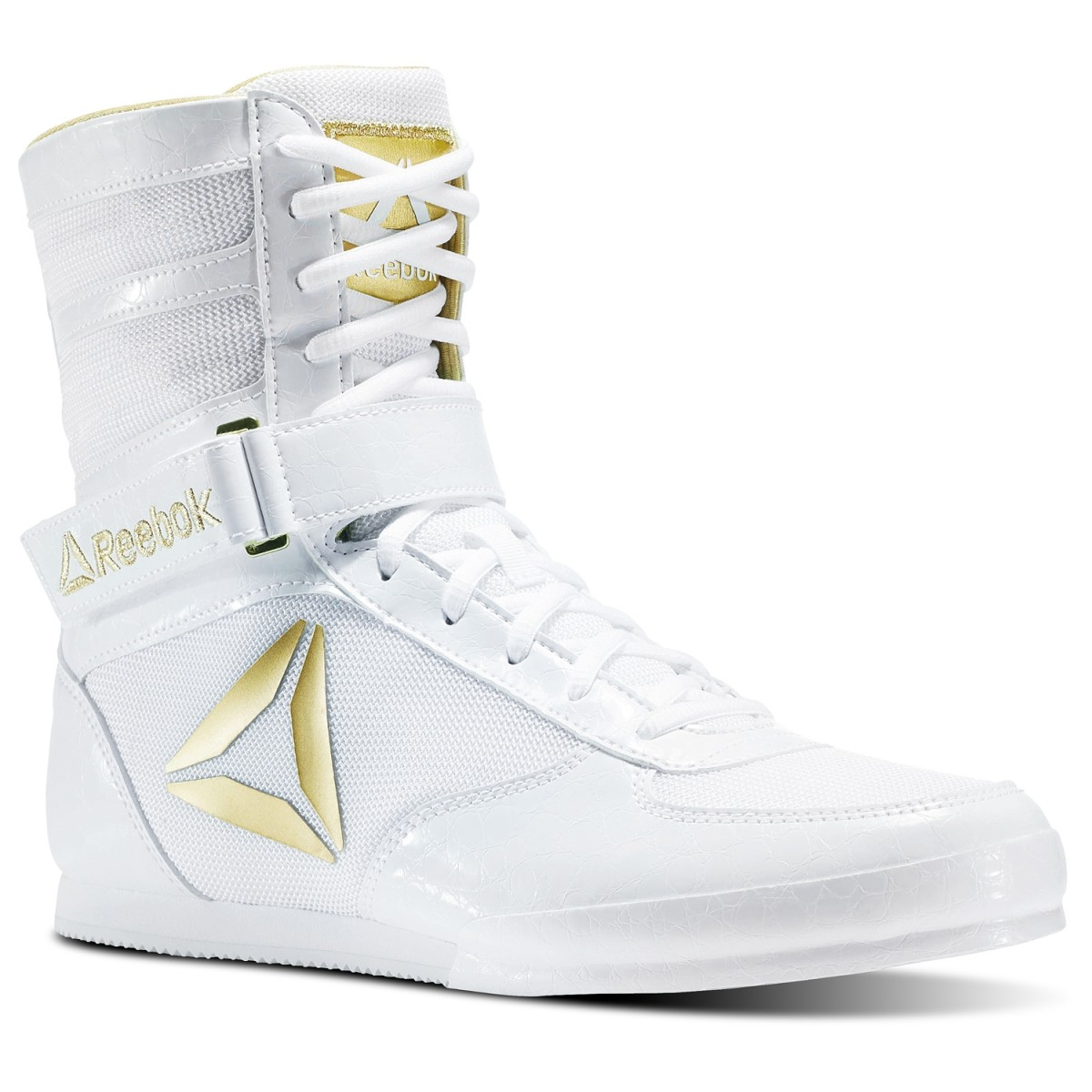 All White Boxing Shoes