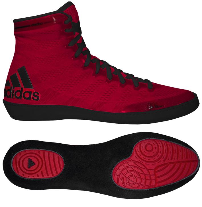 Adidas Adizero Varner Wrestling Shoe - Red/Black