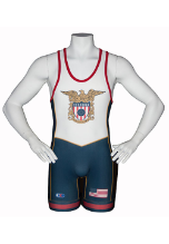 Cliff Keen Sublimated Stock USA Wrestling Singlet - Navy