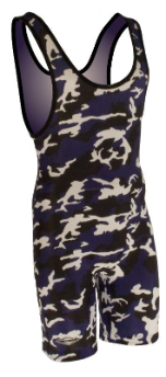 Matman Women's Purple Camo Wrestling Singlet