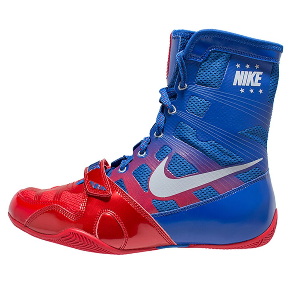 Nike HyperKO Boxing Shoes - Sky Blue/Red