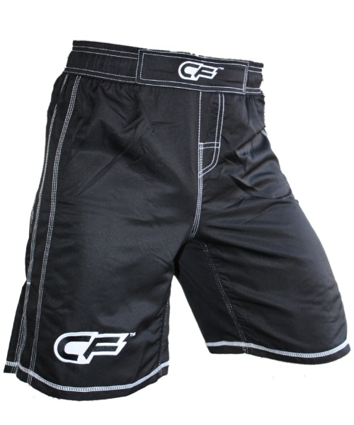 Cage Fighter Youth Tonal Black Fight Shorts