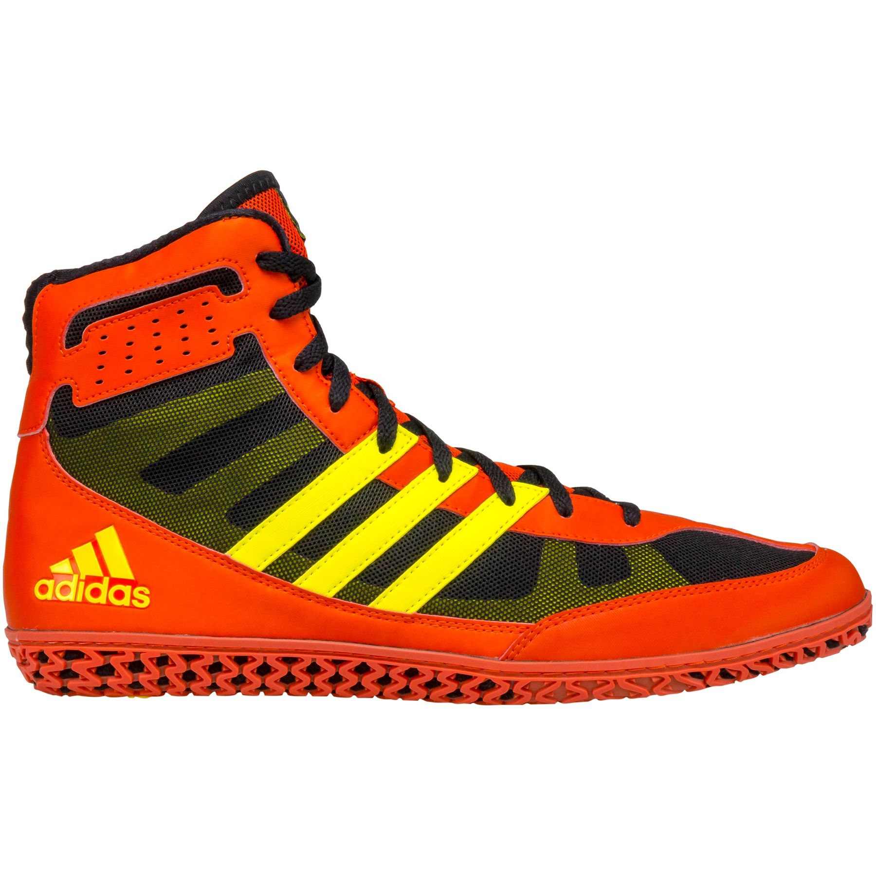 Adidas Mat Wizard 3 Youth Wrestling Shoe Red Yellow Amp Black