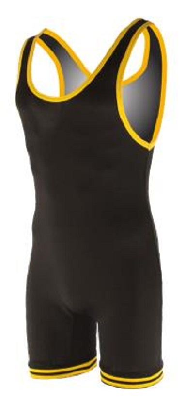 Matman Nylon Singlet Black Gold