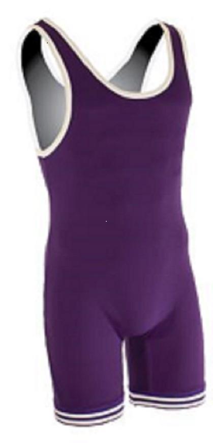 Matman Youth Nylon Singlet Purple