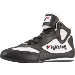 Fighting Sports Aggressor Mid Boxing Shoes - Black/White