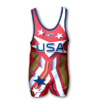 Cage Fighter Jordan Burroughs USA Singlet - Red
