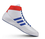 Adidas HVC II Youth Wrestling Shoe-White-Red-Royal