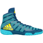 Women's Adizero Varner 2 Wrestling Shoe - Aqua/Yellow/Blue