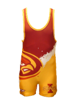 Cage Fighter 2015 Youth NCAA Iowa State Splatter Singlet
