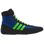 Adidas Combat Speed 4 Youth Wrestling Shoe – Blue and Lime