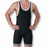 Matman Nylon Singlet - Black