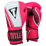 Title Infused Foam Neurotic Fitness Boxing Gloves - Neon Pink