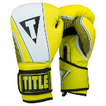 Title Infused Foam Neurotic Fitness Boxing Gloves - Neon Yellow