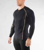 Virus Men's Bioceramic Long Sleeve Compression Top (Au2)