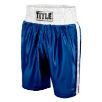 Title Women's Classic Edge Satin Boxing Trunks - Blue/White