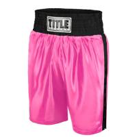 Title Women's Classic Edge Satin Boxing Trunks - Pink/Black